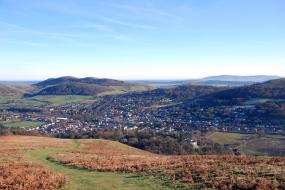 Church Stretton from the Long Mynd
